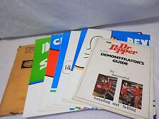 "Rare 1971 Dr Pepper Salesman Demonstrator""s Guide Manual & 6 Traing Posters NICE"