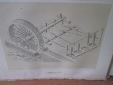 Vintage Print,JAPANESE RICE MILL,Perry Expedition Japan,1856