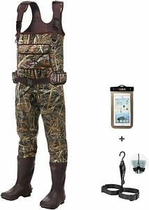 HISEA Chest Waders Neoprene Duck Hunting Waders for Men with 600G Insulated Boot