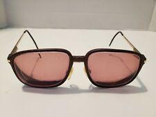 Fratelli Lozza Carbomax Mercury Brown Men's Eyeglass Frames 57*16 140, 90s used