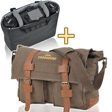 TABERNAK Kamera Tasche OSHAWA PLUS Messenger Fototasche D-SLR Bag Canvas Olive