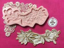 Charming Lace II silicone mold fondant cake decorating wedding food decorating