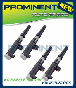 4 Ignition Coils Replacement for 01-10 Nissan Renault 1.6L 2.0L L4 UF653 C1560