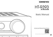Onkyo Integra HT-R393 Receiver Owners Instruction Manual