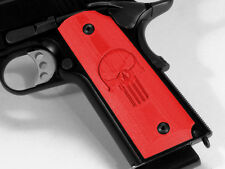 1911 Grips Full Size Ambi Safety Punisher Skull Red Colt Kimber Springfield