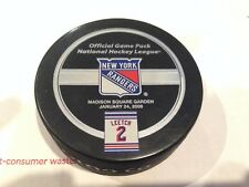 BRIAN LEETCH NEW YORK RANGERS RETIREMENT NIGHT GAME PUCK 1/24/08 #2 ULTRA-RARE