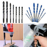 7PCS Triangle Drill Bit Woodworking Wood Plastic Metal Cutting Holesaw