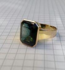 Ring mit Turmalin unisex 333 gelbgold Größe 19