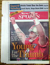 1995 newspaper SAN FRANCISCO 49ers win SUPER BOWL vs San Diego Chargers FOOTBALL