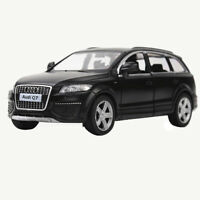 1:36 Audi Q7 SUV Model Car Diecast Toy Vehicle Pull Back Matte Black Kids Gift