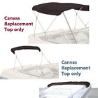 """Bimini Top Boat Cover Canvas Fabric Black with Boot Fit 3 BOW 72""""L 54""""H 54""""-60""""W"""