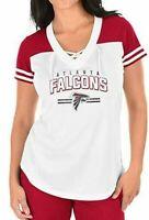 NEW MAJESTIC  NFL Team Apparel ATLANTA FALCONS  V-Neck Jersey Shirt Womens NWT