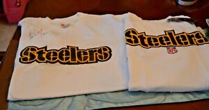 2 Pittsburgh Steelers T-Shirt Steelers LOGO T Shirt singed by Bam Morris #33