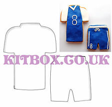 T-Shirt and Shorts Cutters for Football, Rugby and Sports Cakes and Cookies