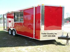 New 2018 8.5x20 8.5 x 20 Enclosed Concession Food Vending Bbq Serving Trailer