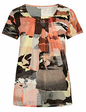 Marks and Spencer Floral Semi Fitted Short Sleeve Women's Tops & Shirts