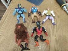 groovy Masters of the universe  (5) lot He-Man 1980's MOTU skeletor, Adam, more