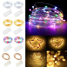 1-3M LED Christmas Lights Flat String Fairy Light Battery Operated Home Decor EM
