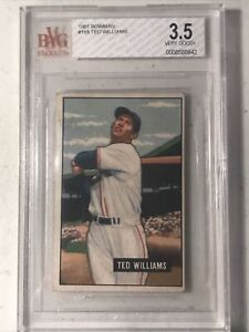 1951 Bowman Ted Williams #165 BVG 3.5 VG+