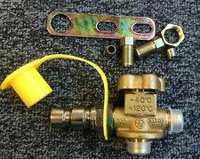 P36 NGV1 CNG Fill Receptacle Stainless Steel/Brass w/Shutoff Valve 3600psi 8mm