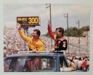 Ernie Irvan & Davey Allison Slick 50 300 NASCAR Photo 8x10 Unsigned Glossy Pic