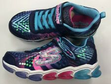 Skechers S Lights-Jelly Beams/Girls/Youth/Lights up/Navy/Multi/NIB