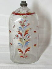 BARON STIEGEL TYPE GLASS BOTTLE, HAND BLOWN, ENAMELED FLASK, WEDDING BOTTLE~~~