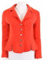 VINTAGE Womens 5 Button Blazer Jacket Size 40 Medium Red Wool  BT04