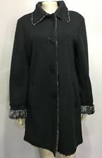 Pendleton George Simonton Womens M Gray Mohair Ribbed Knee-Length Coat Jacket