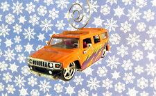 Custom Christmas Ornament 1/64 Scale 2003 '03 Orange Hummer H2 Car