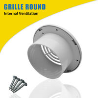 "4"" 100mm Air Vent Grille Ventilation Ceiling Wall Mount Air Vent ABS Round New"
