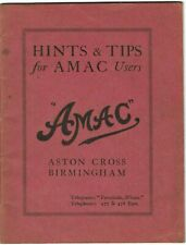 amac hints and tips  carburetter 1920 parts information book  project ON DISC