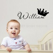 Personalized Name Wall Sticker Kids Room Wall Art Decal Removable Nursery Decor