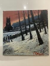 """James Downie-Original Oil Painting """"The Church Track"""""""