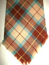 VTG 1940's WOOL PLAID NECKTIE VGC+ SWING LINDY ROCKABILLY GREAT COLOURS