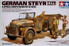 TAMIYA 1/35 Steyr 1500A/01 con Afrika Korps a riposo # 35305