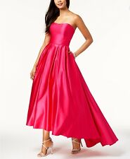 Betsy & Adam Strapless High-Low Ball Gown Size 10 #G 341  Msrp: $259