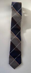 Michael Kors Silk Tie Striped Blue Tan NEW IN BOX