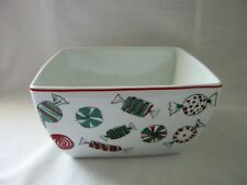 "Food Network HOLIDAY SWEETS Serving Bowl 8-1/2"" Square"