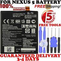 New BL-T9 battery for Google Nexus 5 LG D820 D821 2300mAh 3.8V