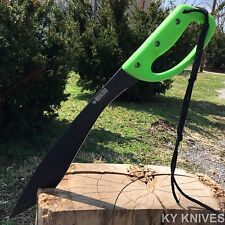 "20"" FULL TANG Tactical Survival Fixed Blade Zombie MACHETE w/sheath Sword Knife."