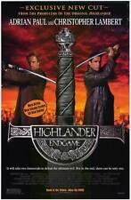 HIGHLANDER: ENDGAME Movie POSTER 27x40 B Christopher Lambert Adrian Paul Bruce