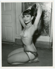 Burlesque Star Patti Waggin Original 1950s Risqué Pin-Up Portrait Photograph
