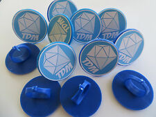 12 DANTDM Diamond Minecart Rings CUPCAKE toppers - birthday party favor cake