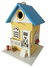 Bird House Farmhouse Bird House Station Wooden Garden Decor Hanging Mount Yard