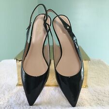 Kate Spade Womens Shiloh Kitten Heels Slingback Patent Leather Size 8.5M New