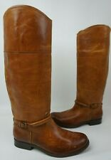 Frye Melissa Seam Tall Women's Boots Leather Cognac Brown Size 6.5 B