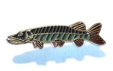 BROCHET eau douce Jeu poisson pêche à la ligne pêcheur à métal émail BADGE NEUF