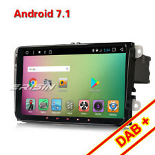 "9""Android 7.1 Autoradio DAB+für PASSAT GOLF 5 SHARAN Touran SKODA SEATNAVI GPS"