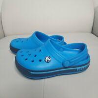 Crocs Classic Shoes Youth Kids J1 Blue Beach Water Slip-On Clogs